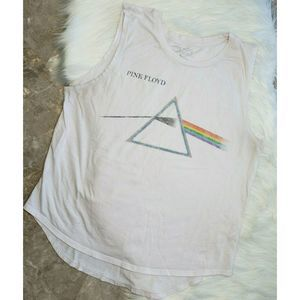 Authentic PINK FLOYD Dark Side White Tank Top XL